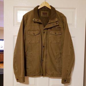 Levi's Canvas Full Zip 5pocketTrucker Jacket Sz L